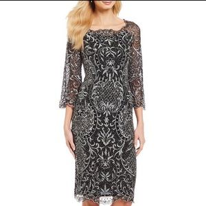PISARRO NIGHTS EMBROIDERED BEAD DRESS ♥️IN STORES